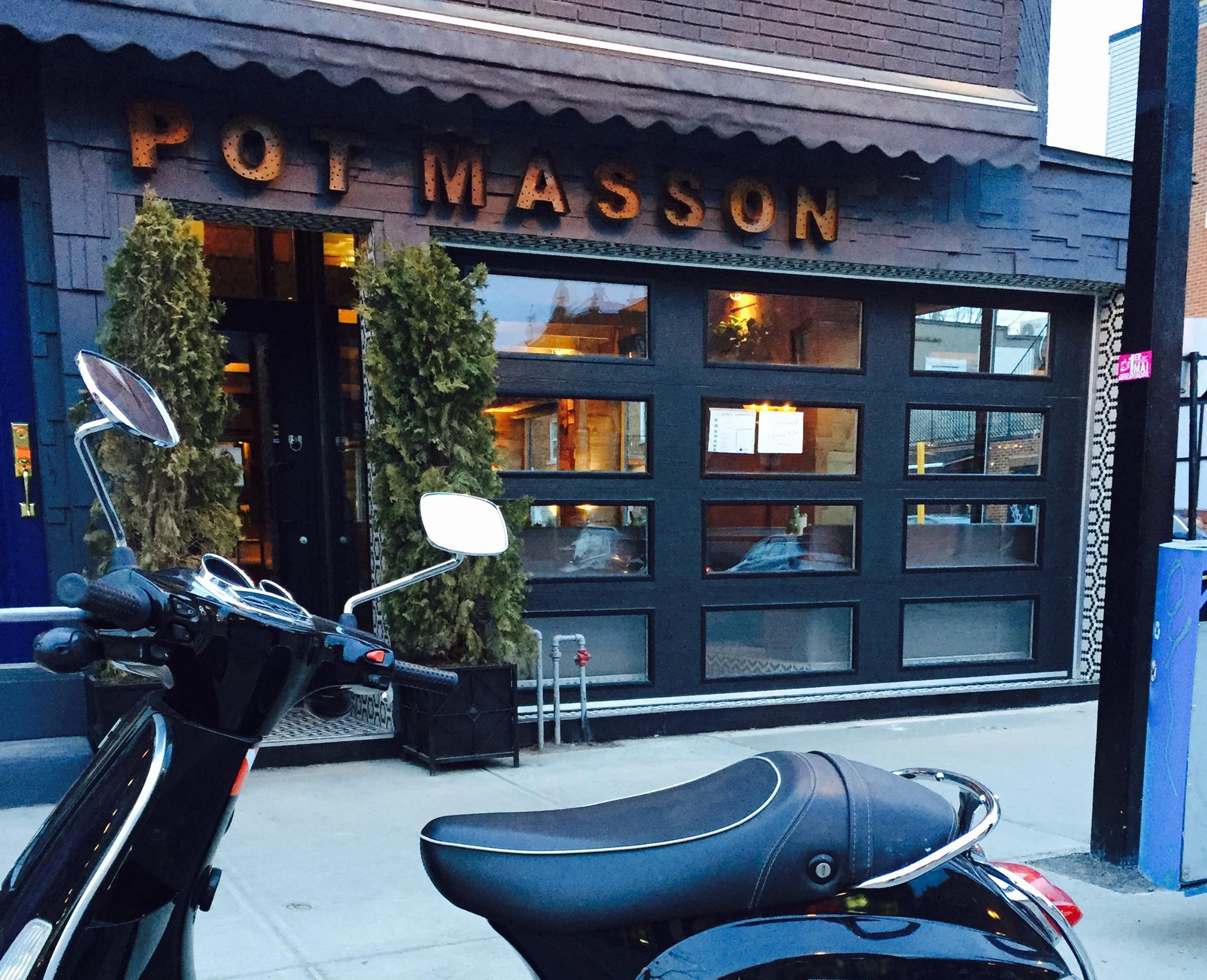 Outside the new Pot Masson