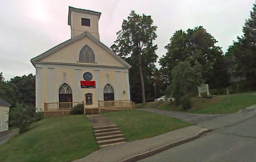 Gardiner Congregational Church, future home of Lost Orchard Brewing Company's hard cider facility.