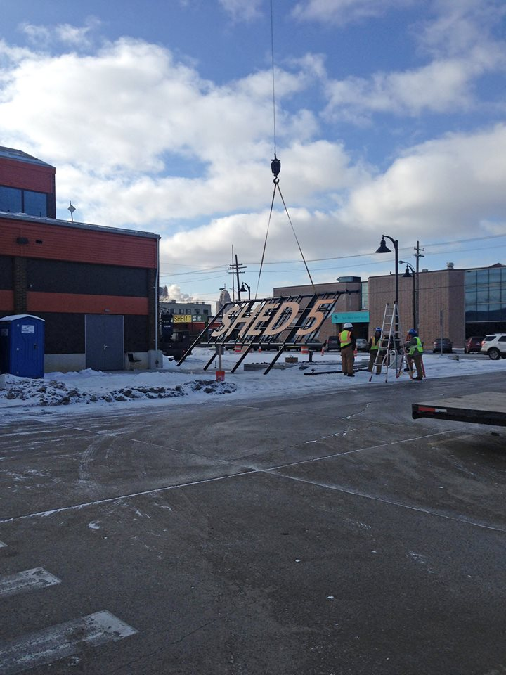 The sign was hung on Shed 5 at Eastern Market in February.