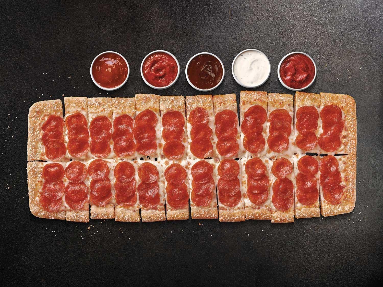 Pizza Hut's new Big Flavor Dippers Pizza.