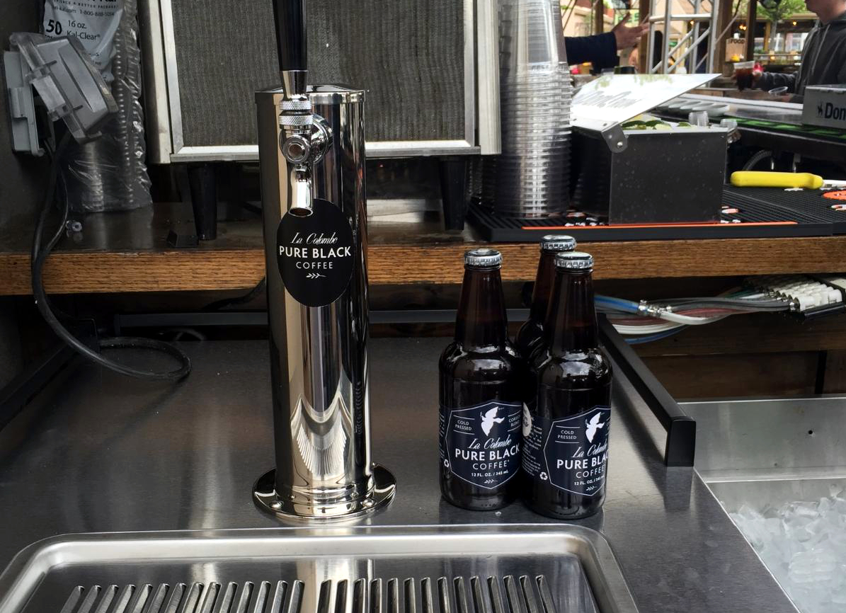 The first Pure Black tap, just installed at Morgan's Pier.