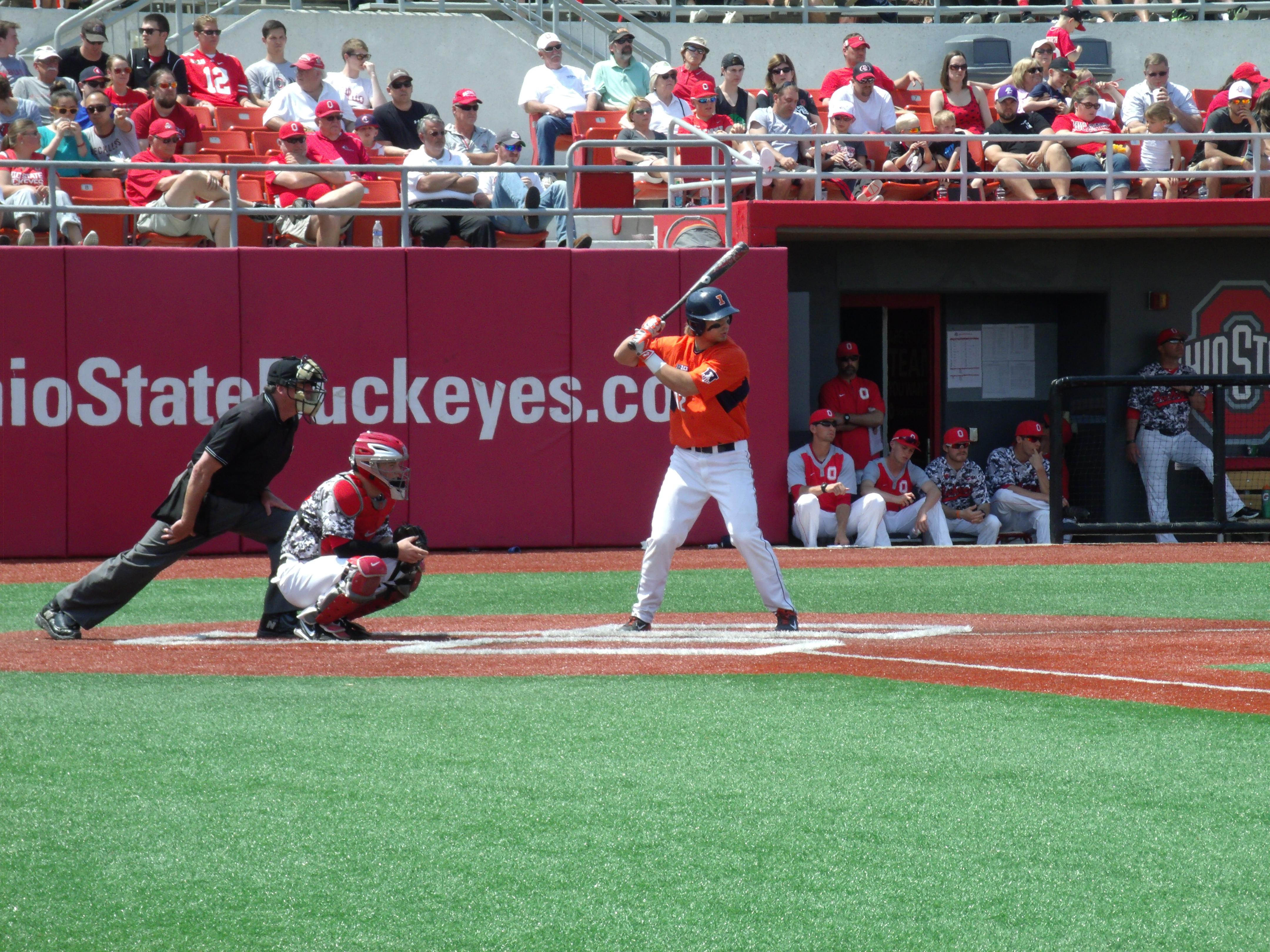 Hitting his Big Ten-leading 11th home run, Illinois senior first baseman led the Illini to a 6-2 win