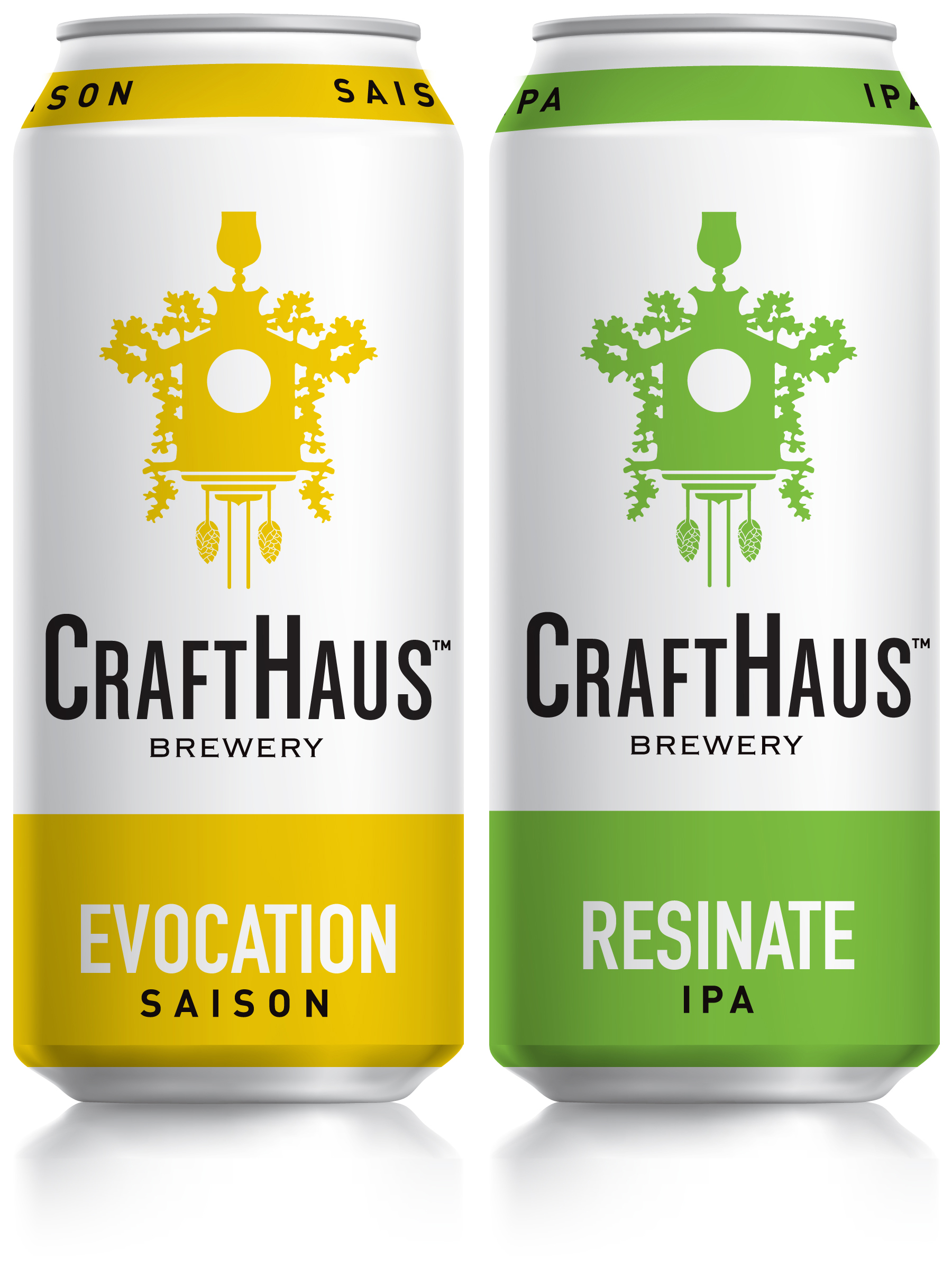 CraftHaus Brewery Evocation Saison and Resinate IPA