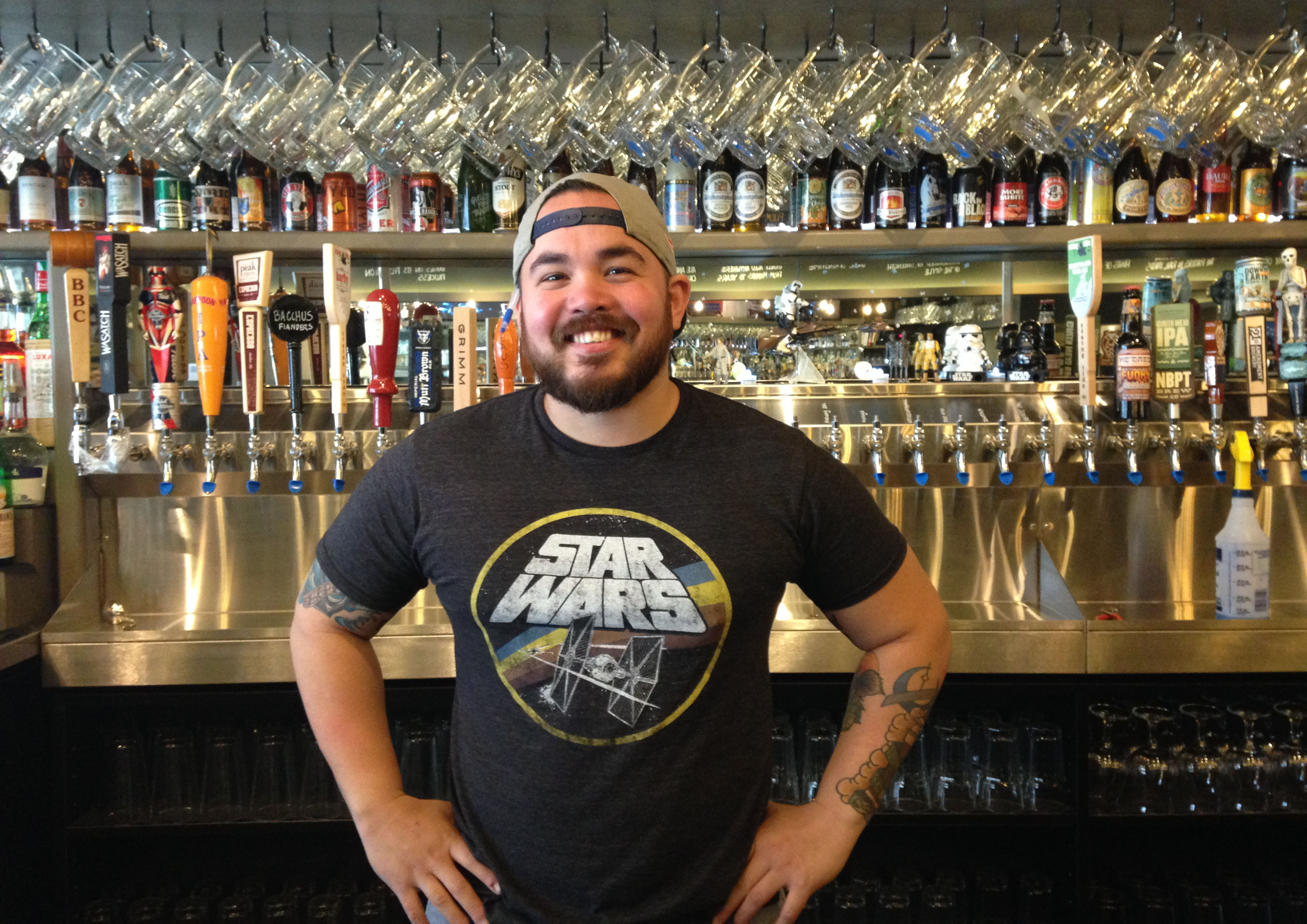 Beverage Director Justin Lipata at Bukowski Tavern in Inman Square