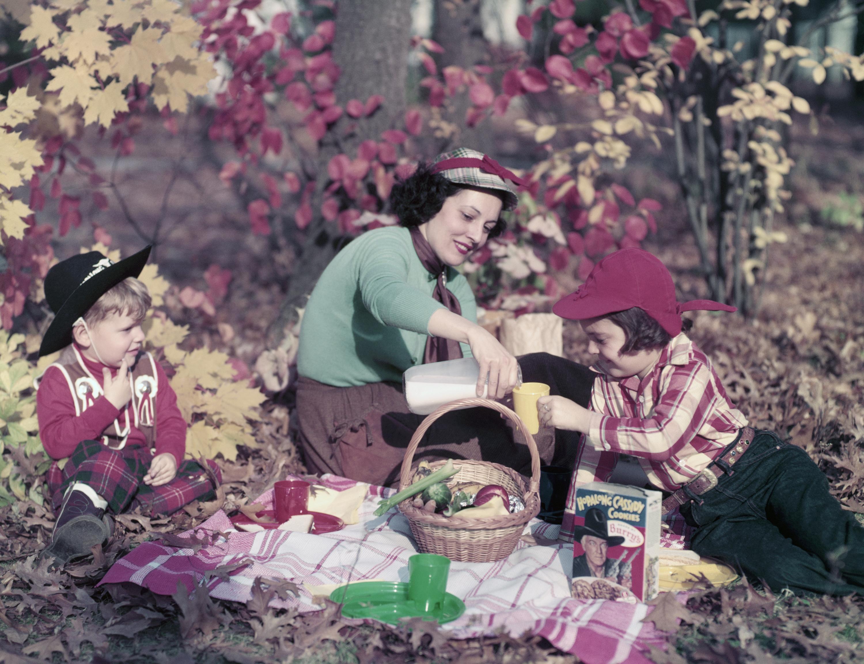 A Mother's Day picnic, circa 1950.
