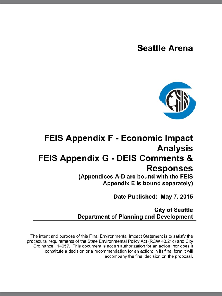 Financial Analysis of the Seattle Arena