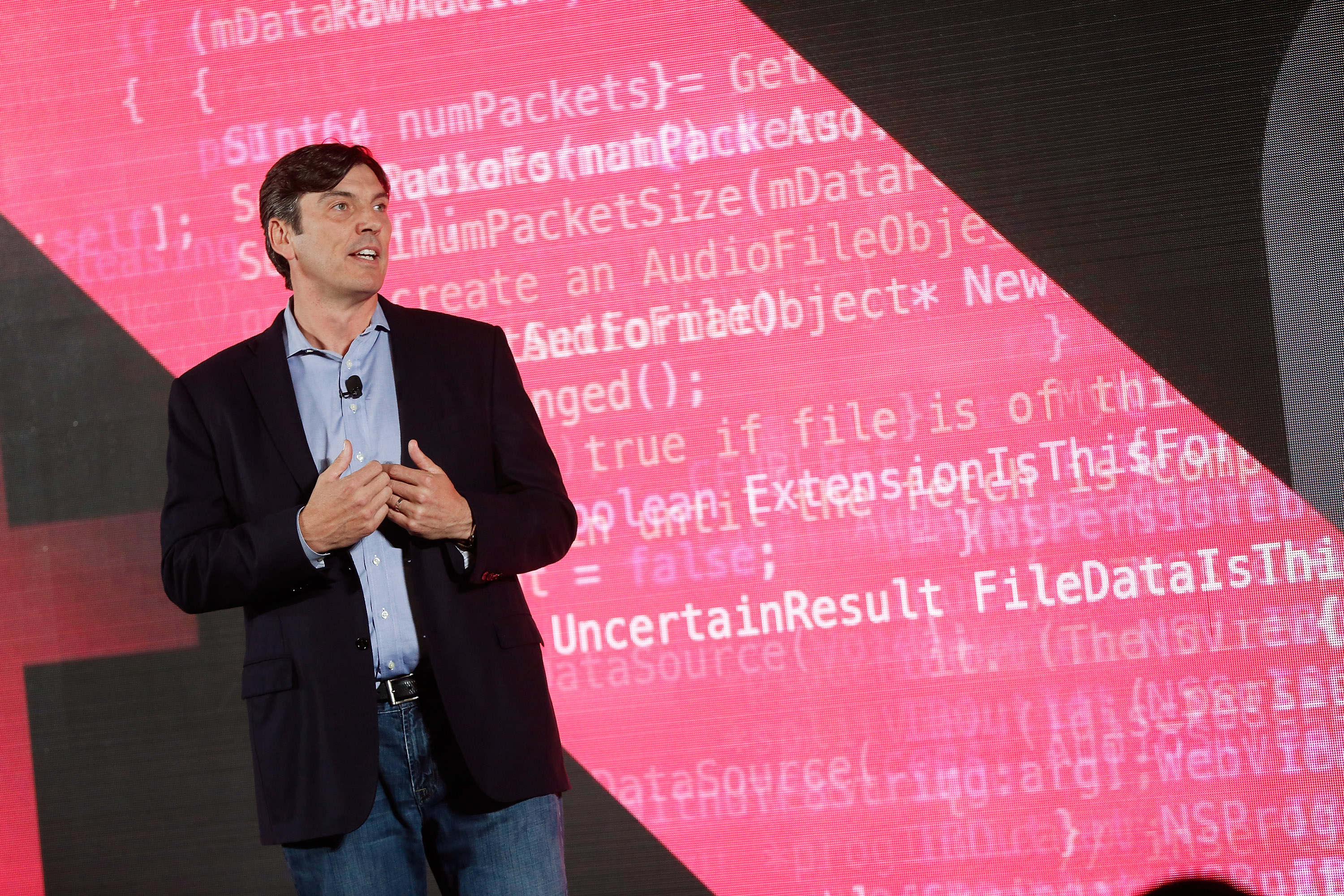 AOL CEO Tim Armstrong speaks on stage during the AOL 2015 Newfront on April 28, 2015, in New York City.  (Photo by Brian Ach/Getty Images for AOL)