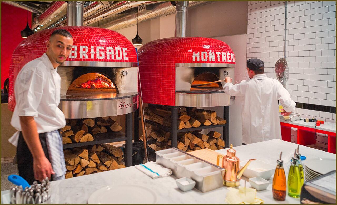 The pizza ovens at Brigade