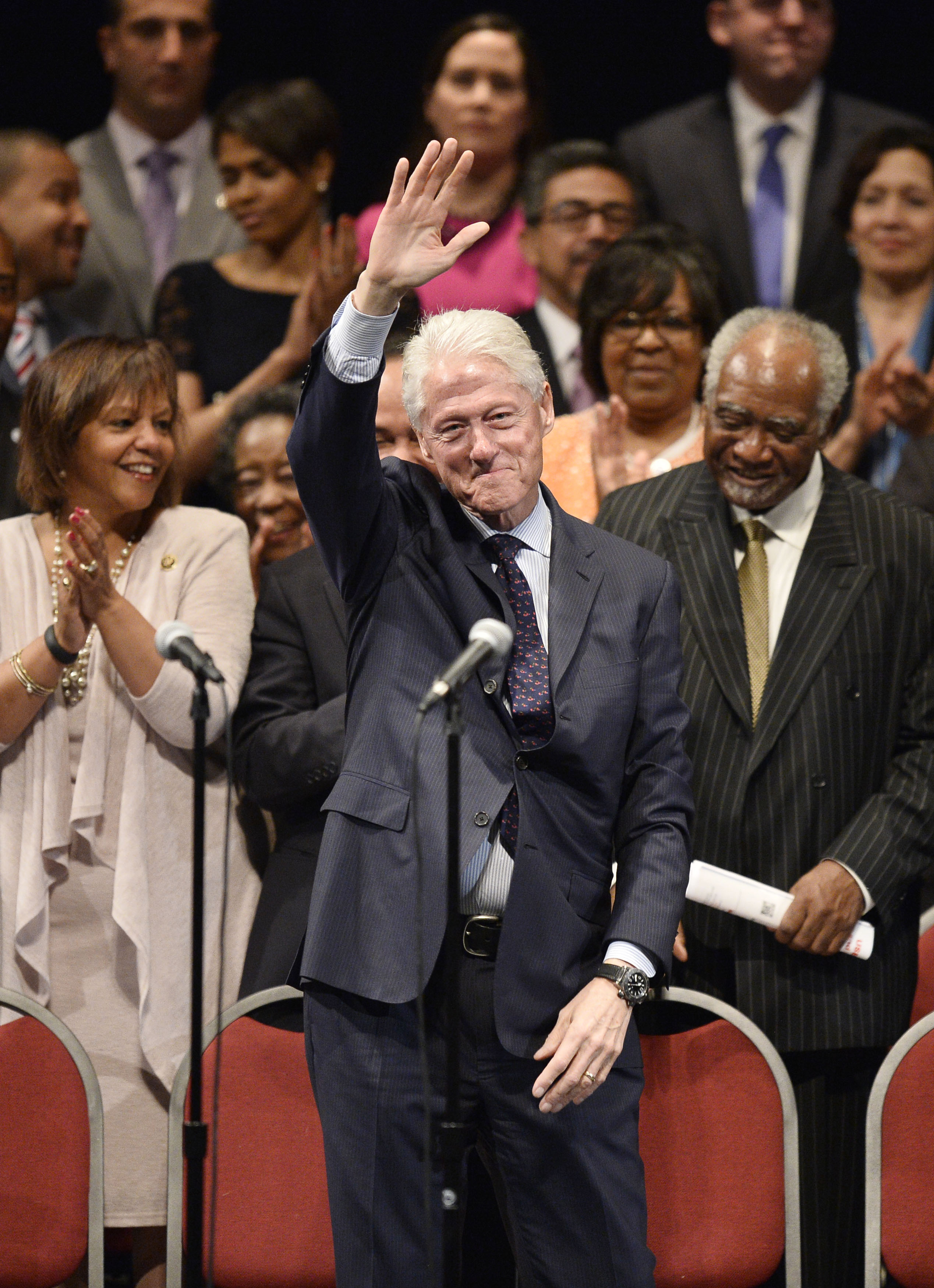 Bill Clinton at Rahm Emanuel's inauguration