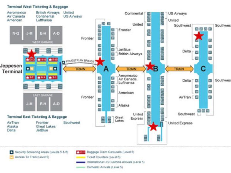 Denver International Airport Map