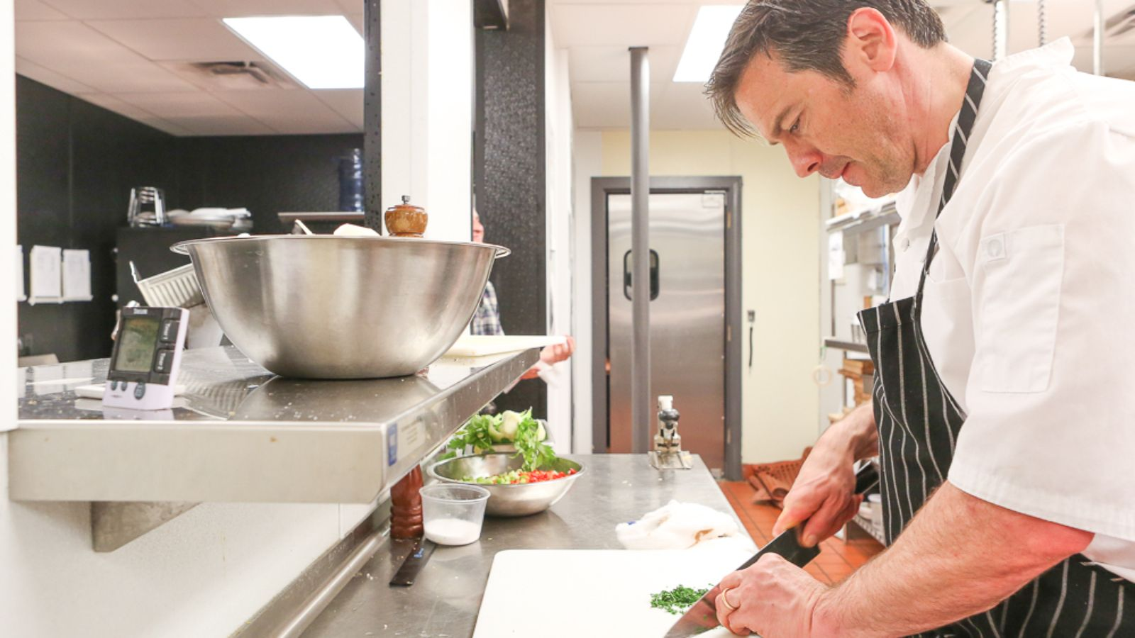 Chef John Broening in the kitchen at Argyll Whisky Beer