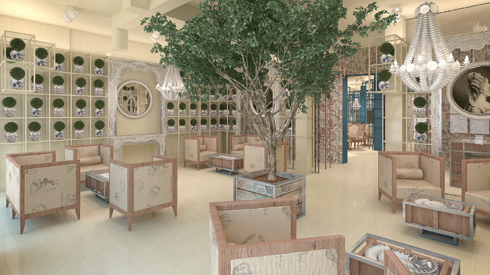Interior rendering from La Dulce.