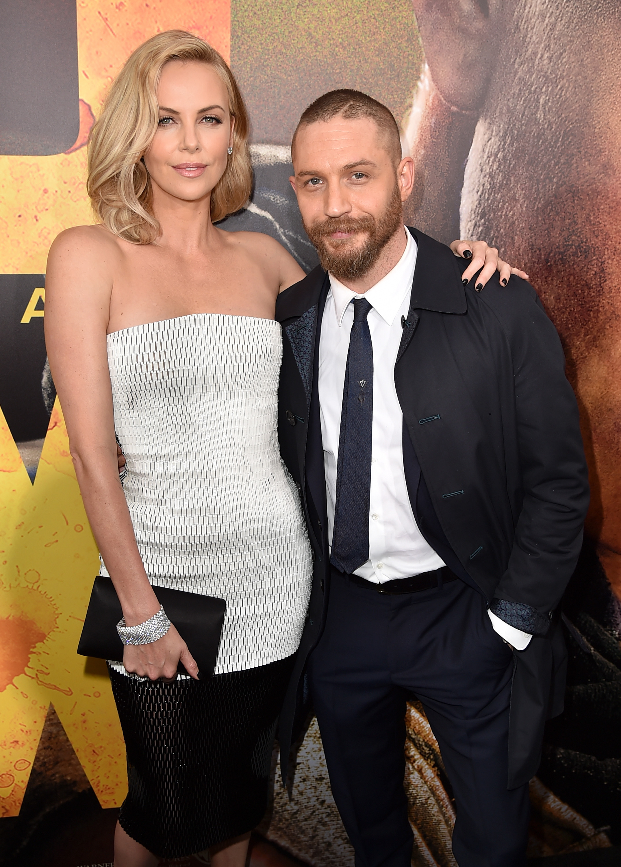 So, Charlize Theron is actually taller than Tom Hardy... Who knew?