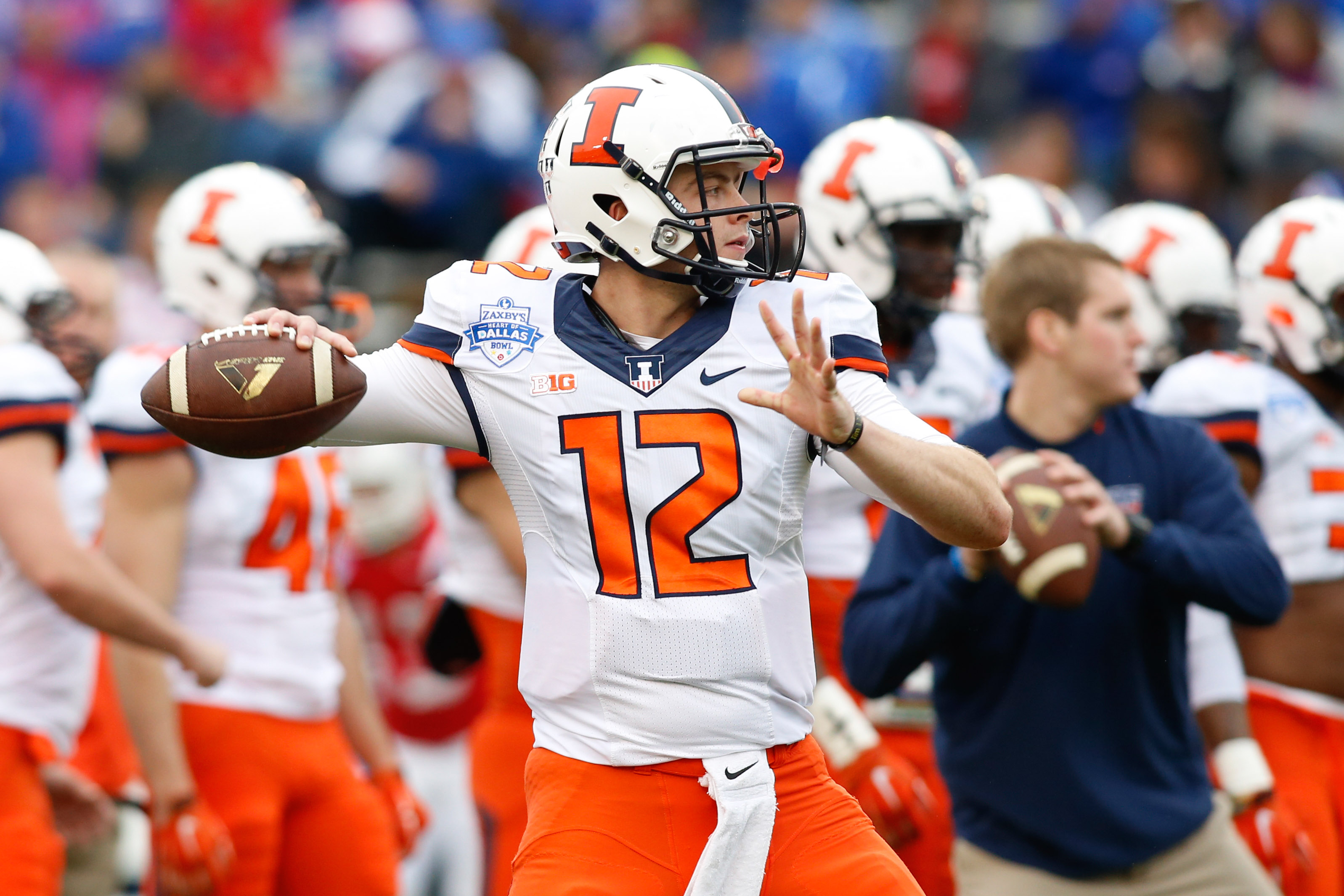 Illinois unveils its devastating two-ball trick play. Yes, several flags were thrown.