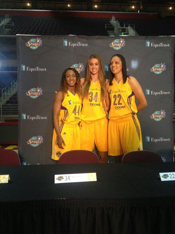 Tyonna Outland, Annalise Pickrel and Cierra Burdick at Media Day