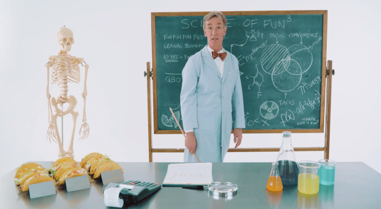 Bill Nye the Science Guy in Fun Fun Fun Fest's video