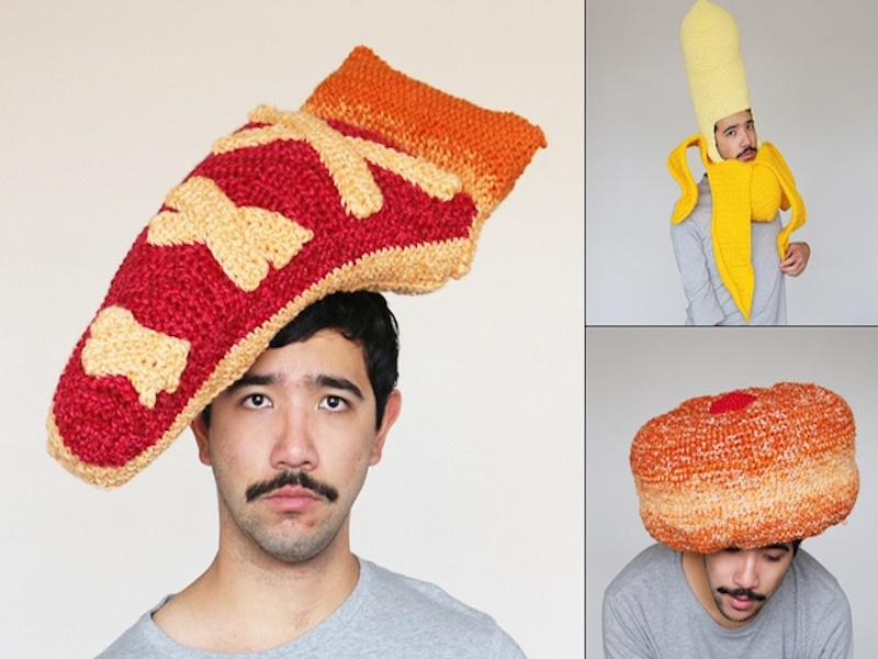 Perfectly Sane Man Crochets Food Head Gear, Becomes Instagram Famous