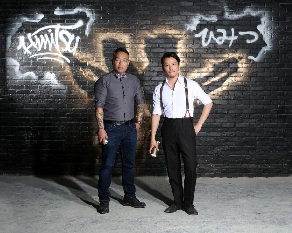 T. Fable Jeon (left) and Shingo Gokan.