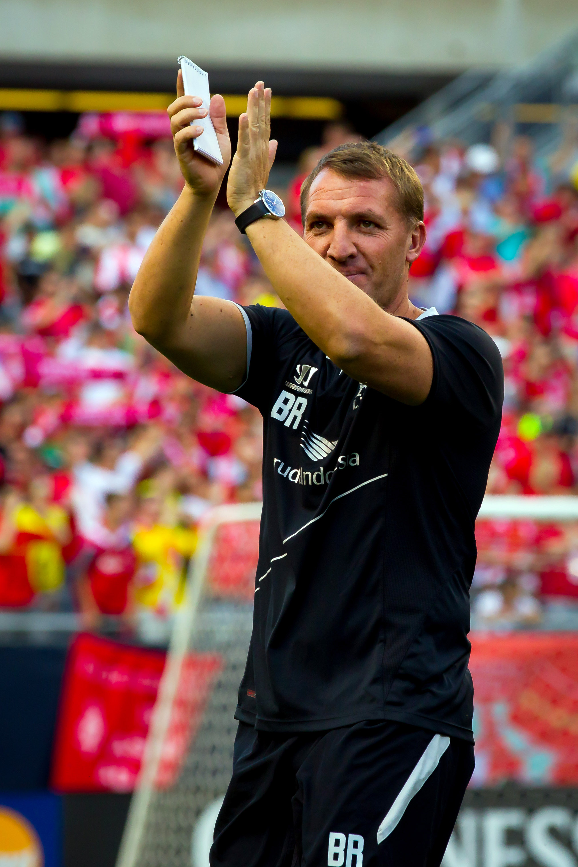 This is Liverpool coach Brendan Rodgers.  This isn't the same person the Rangers might draft.