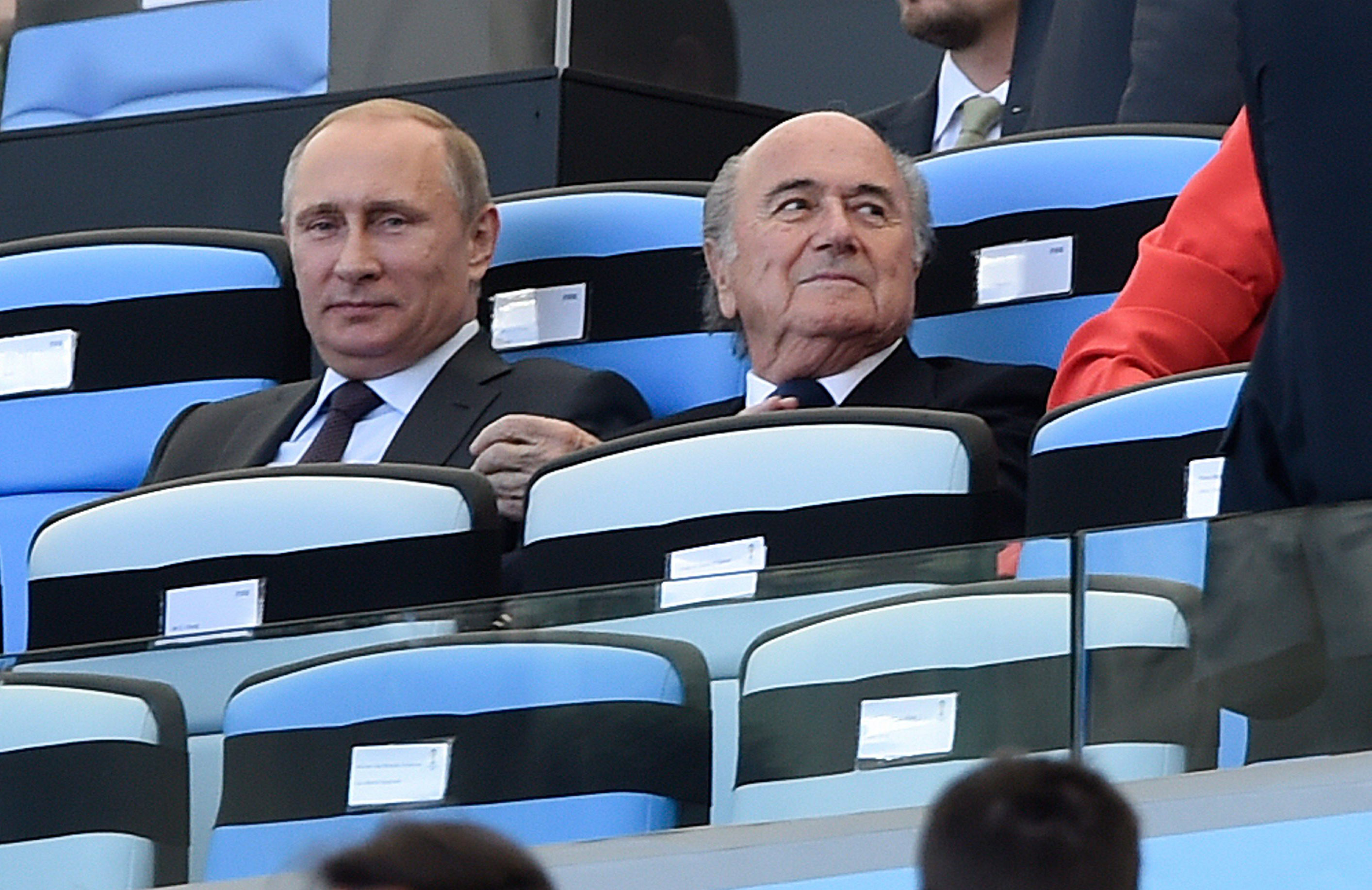 Blatter, right, is one of the most quintessential Bond villains this generation has ever seen.