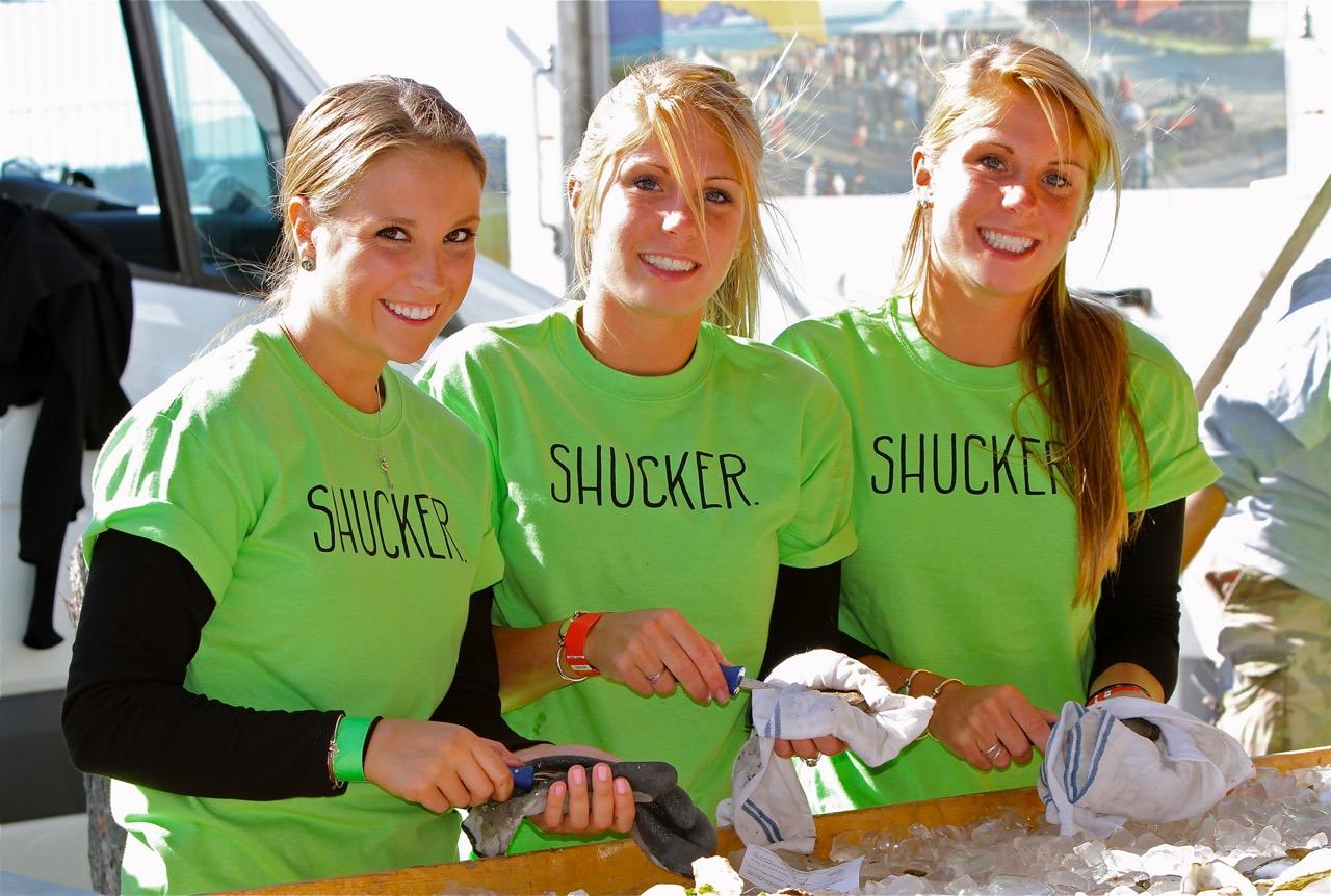 Shucking Island Creek Oysters