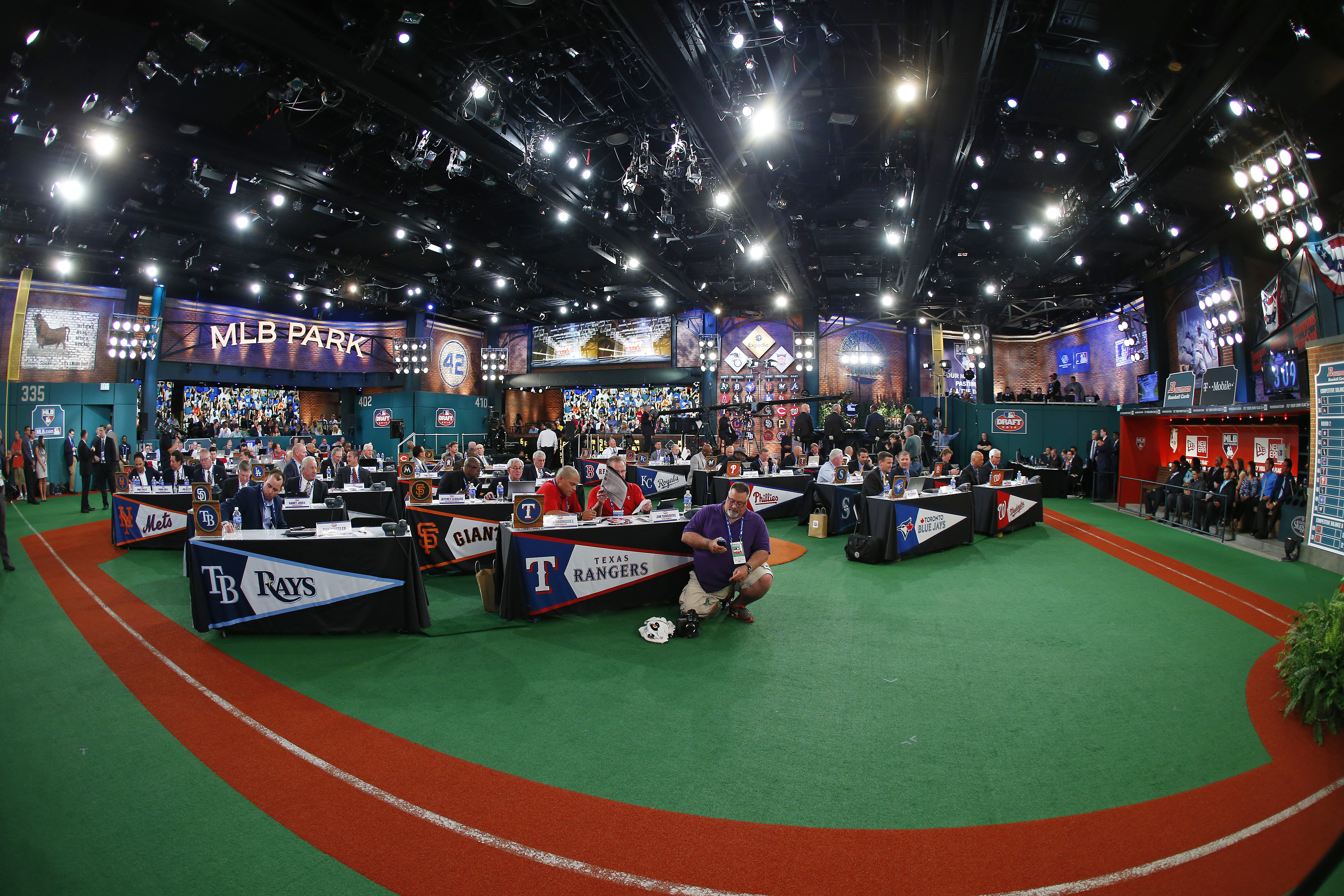 The view of Studio 42 at MLB Network, home of the First Year Player Draft.