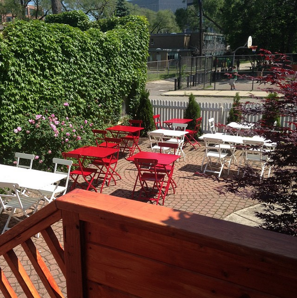 Mudgie's is in the process of expanding, but the patio is now open.