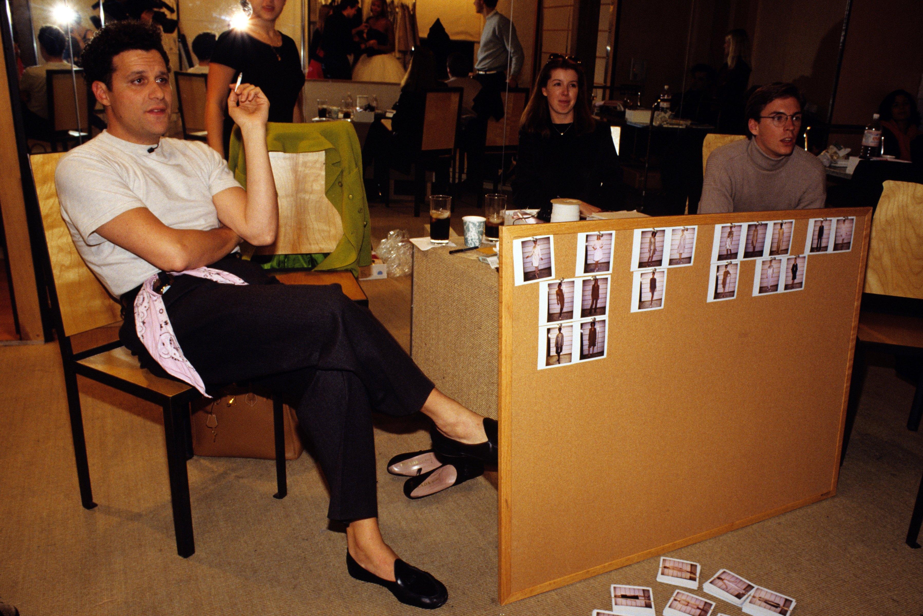 Mizrahi in his Soho showroom in 1995.