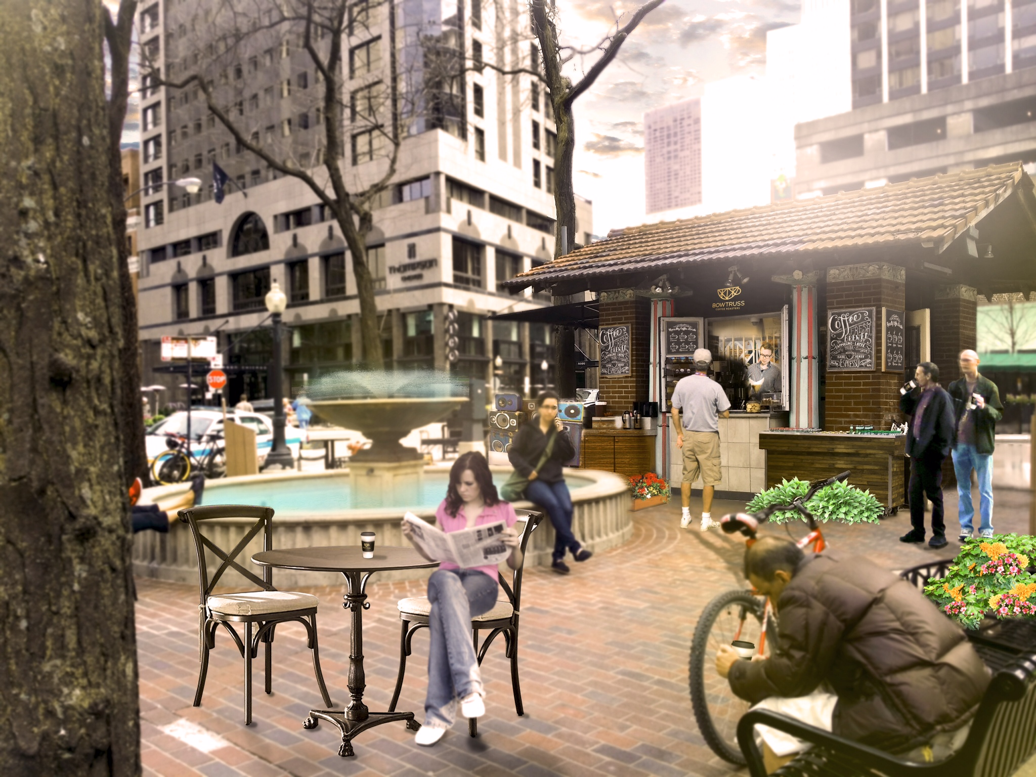 Bow Truss rendering for Mariano Park