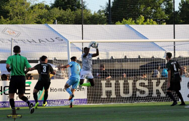 El Gato smothers a Wilmington FC shot 5/30.