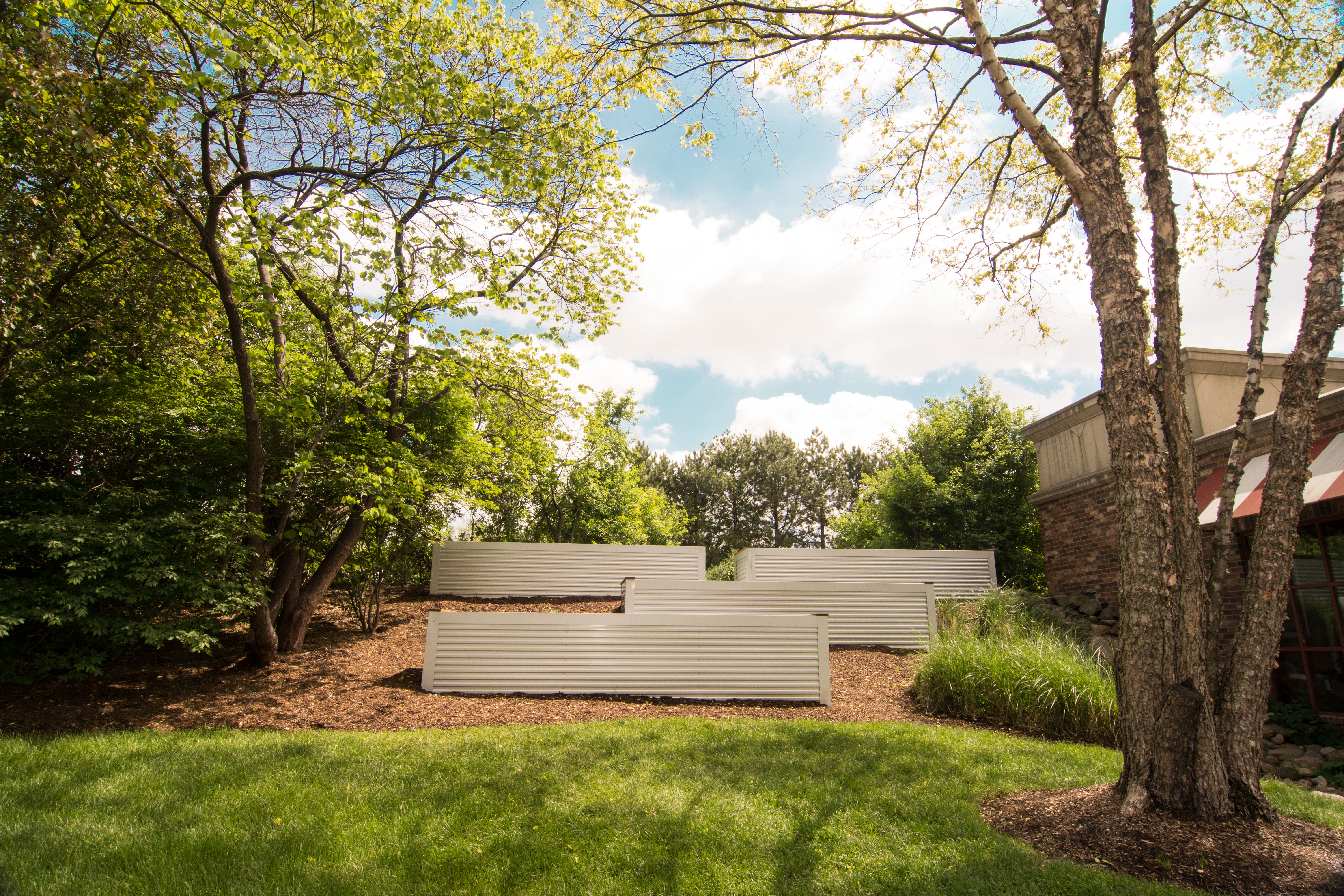 Birmingham's Big Rock Chophouse recently installed four large garden beds on their property.