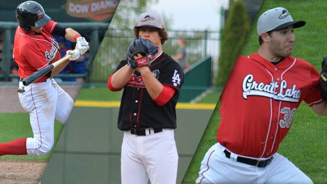 From left to right, Michael Ahmed, Grant Holmes and J.D. Underwood are all 2015 Midwest League All-Stars.