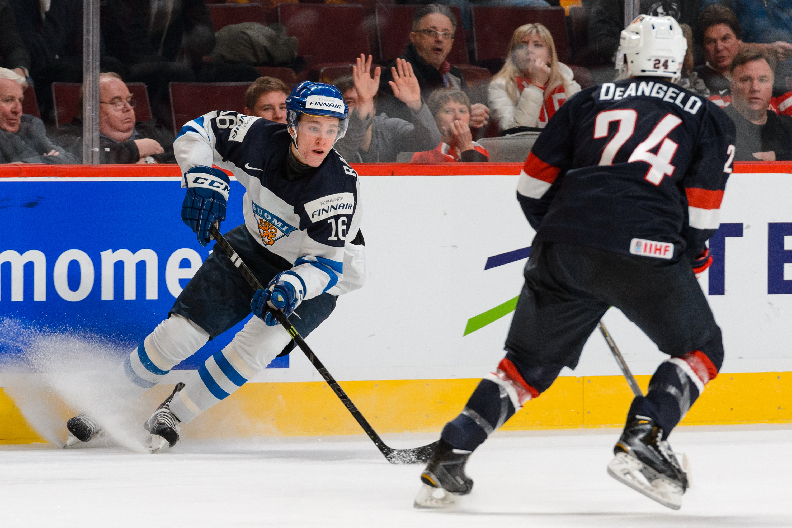 Mikko Rantanen: made moves against the American team at the WJCs, will likely be picked by an American team later this month.