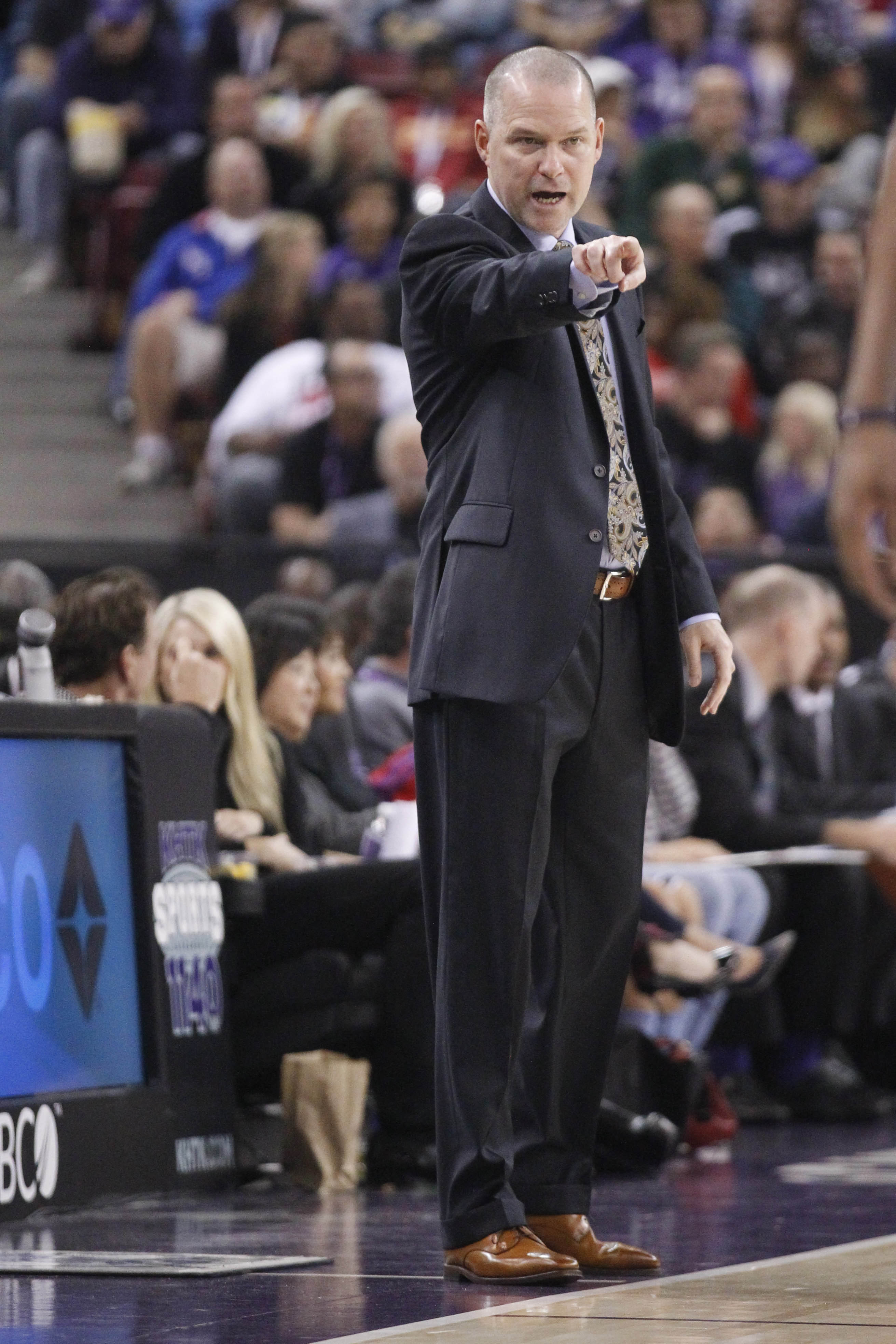 Mike Malone with the Sacramento Kings.