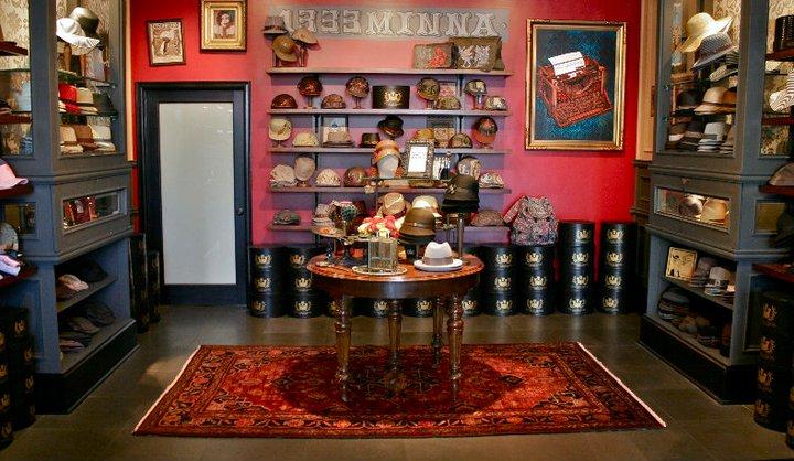 Goorin Bros.'s Larchmont hat shop.
