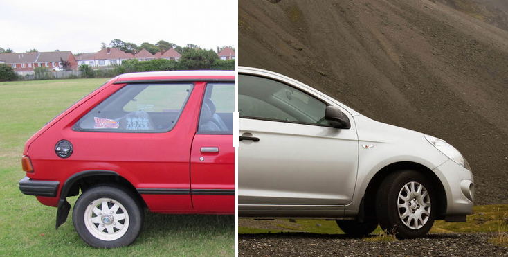 Why Cars Went From Boxy In The 80s To Curvy In The 90s