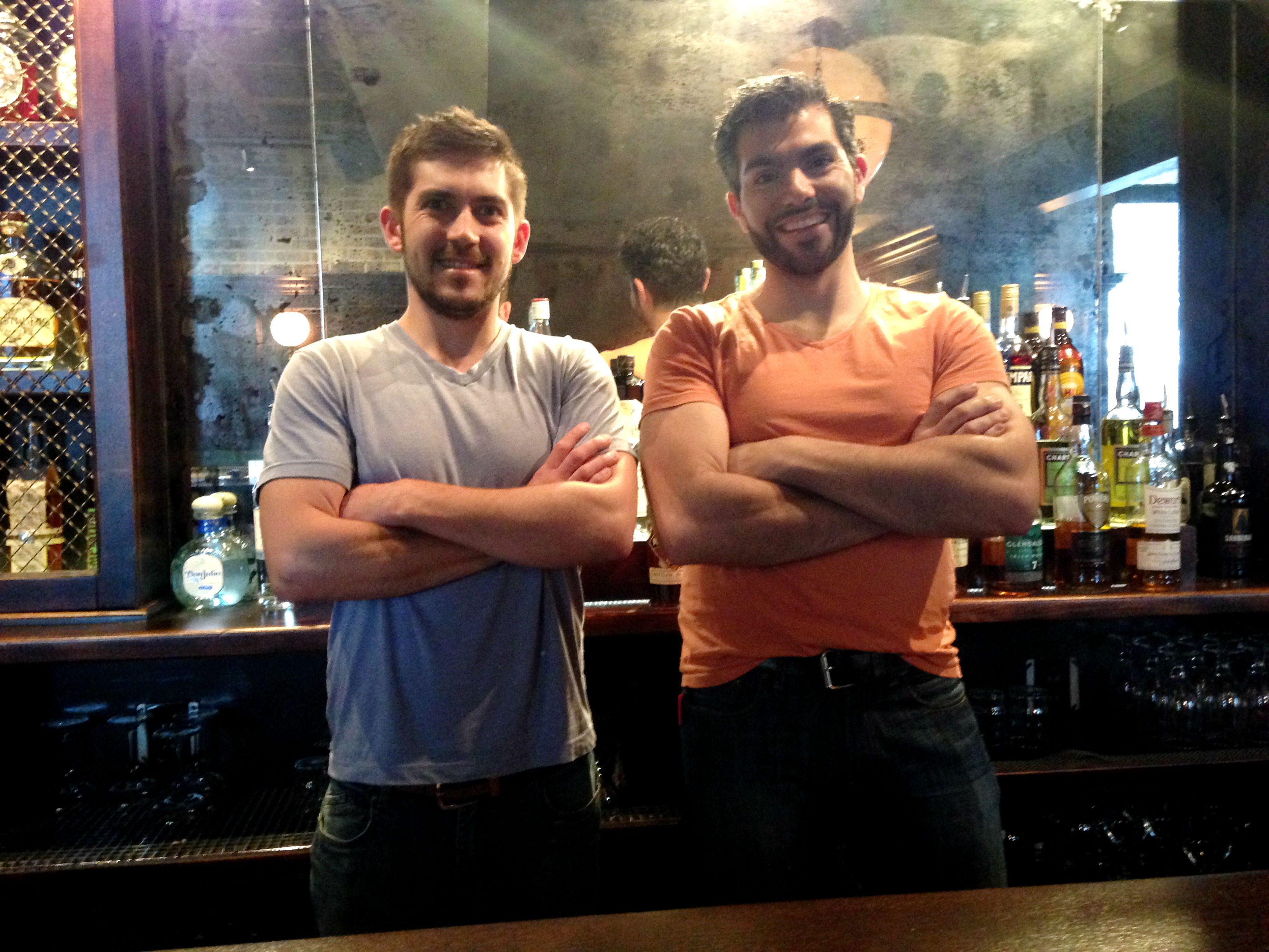 Chef Jonathan Kopacz (left) and beverage director Paulo Pereira at Brass Union