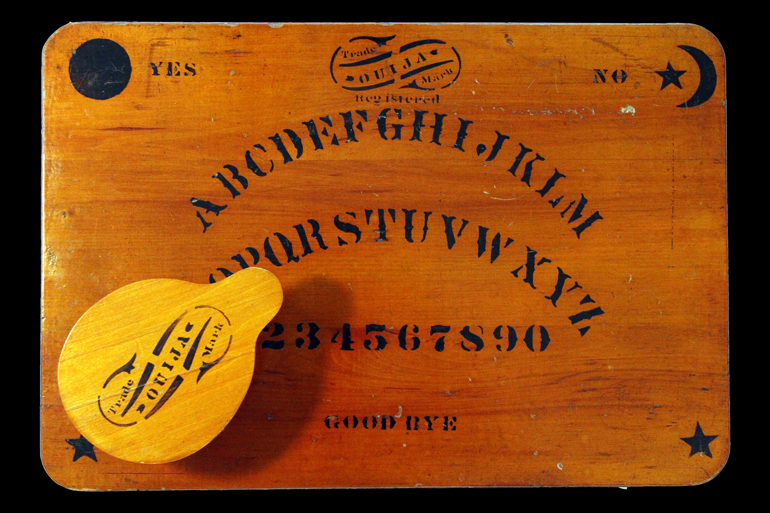 A Ouija game from 1891, one of the earliest boards.