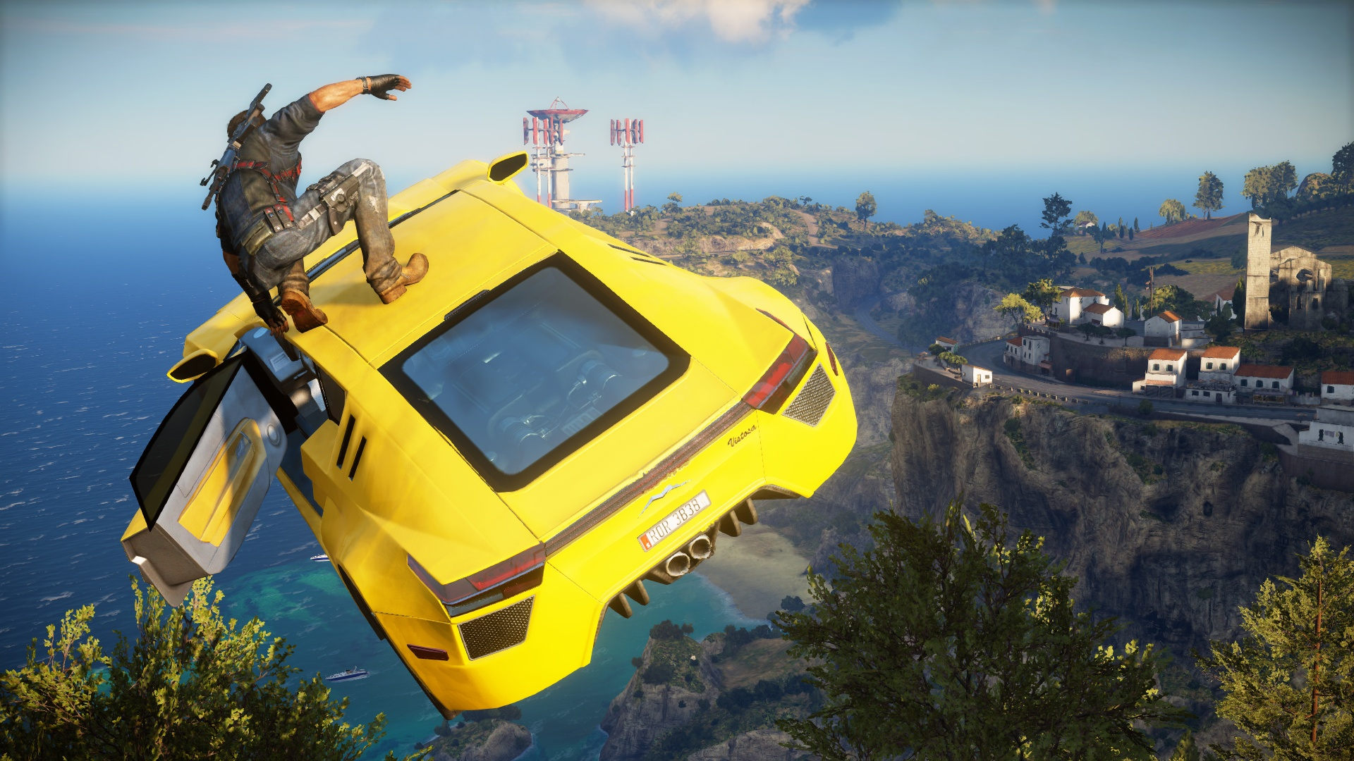 Just Cause 3 goes nuts in Mediterranean; massive damage