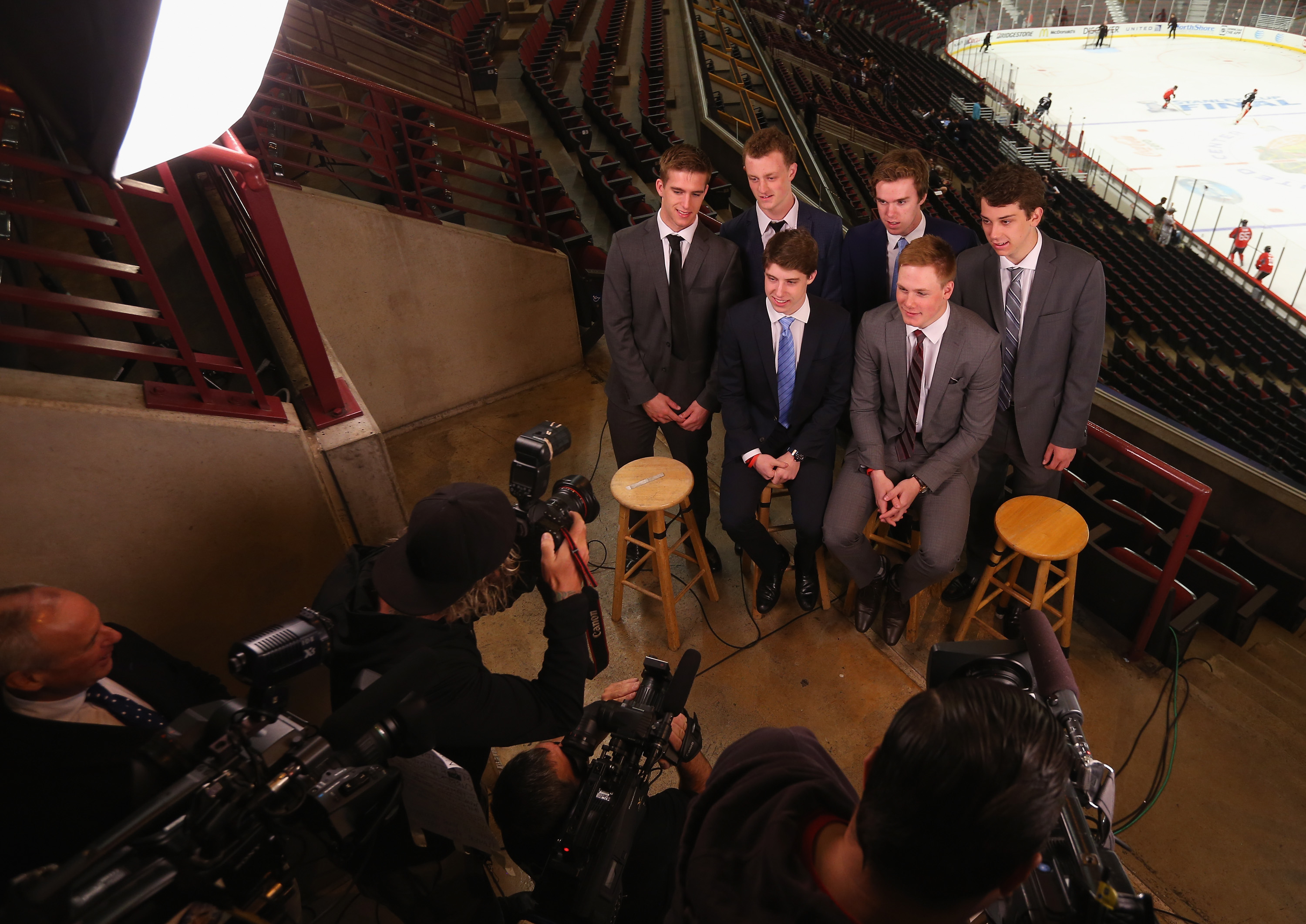 Noah Hanifin (nope), Jack Eichel (lol), Connor McDavid (LOL), Dylan Strome (nah), Mitchell Marner (bye), and Lawson Crouse (... maybe?)