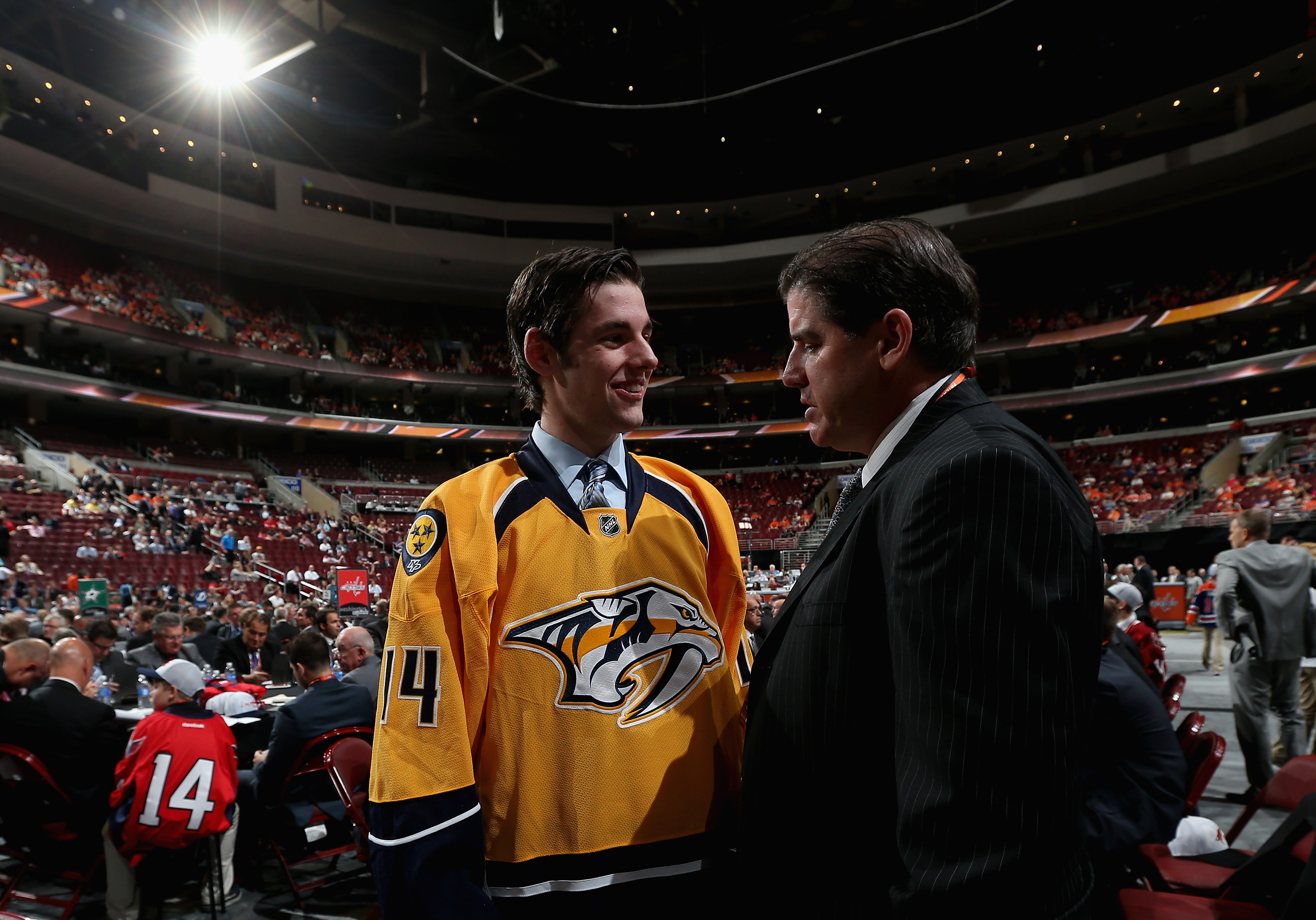 The Nashville Predators' top defensive prospect, Jack Dougherty, after being drafted in the 2015 Draft.