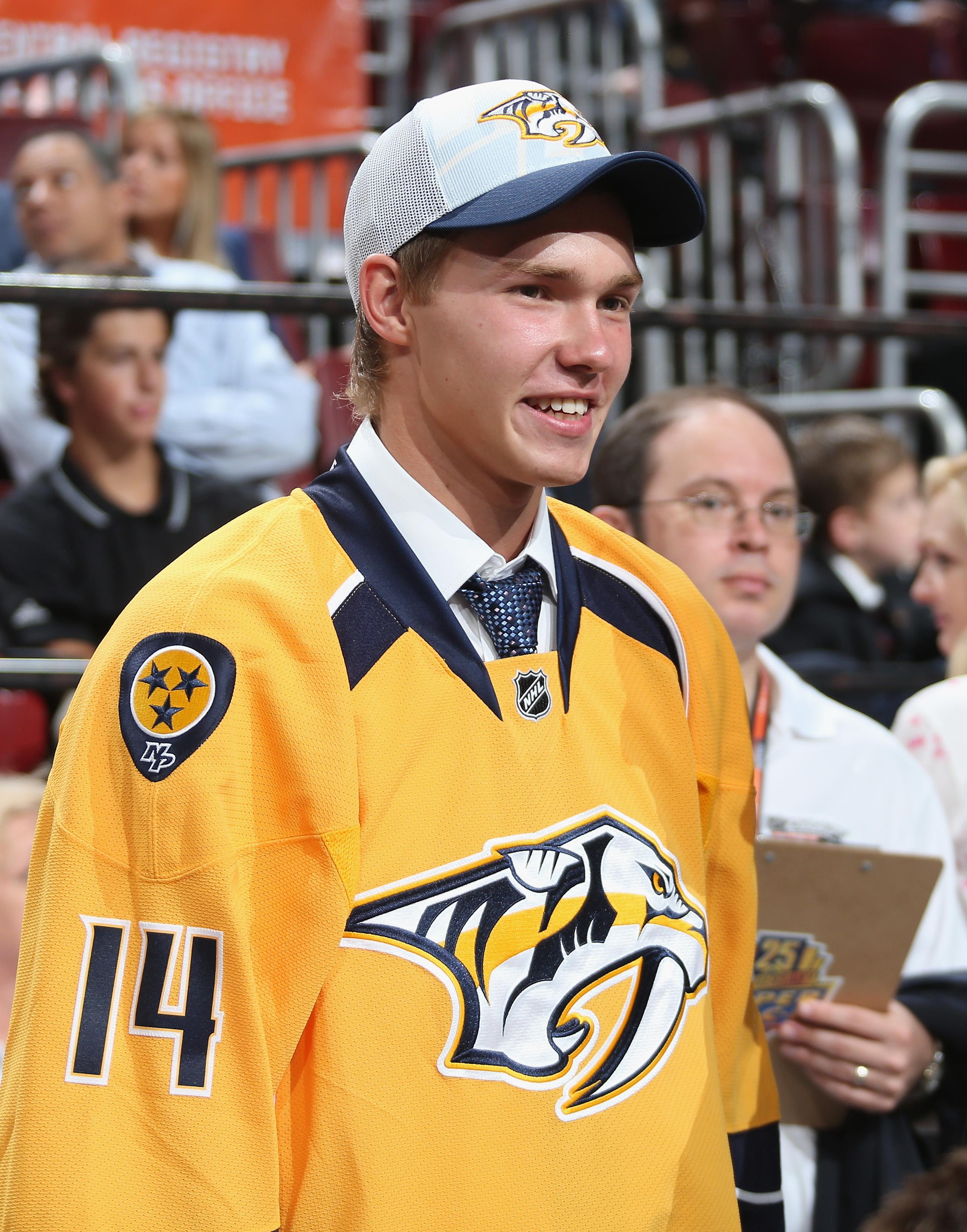 Top Predators center prospect, Vladislav Kamenev, after being drafted in the 2014 Draft.