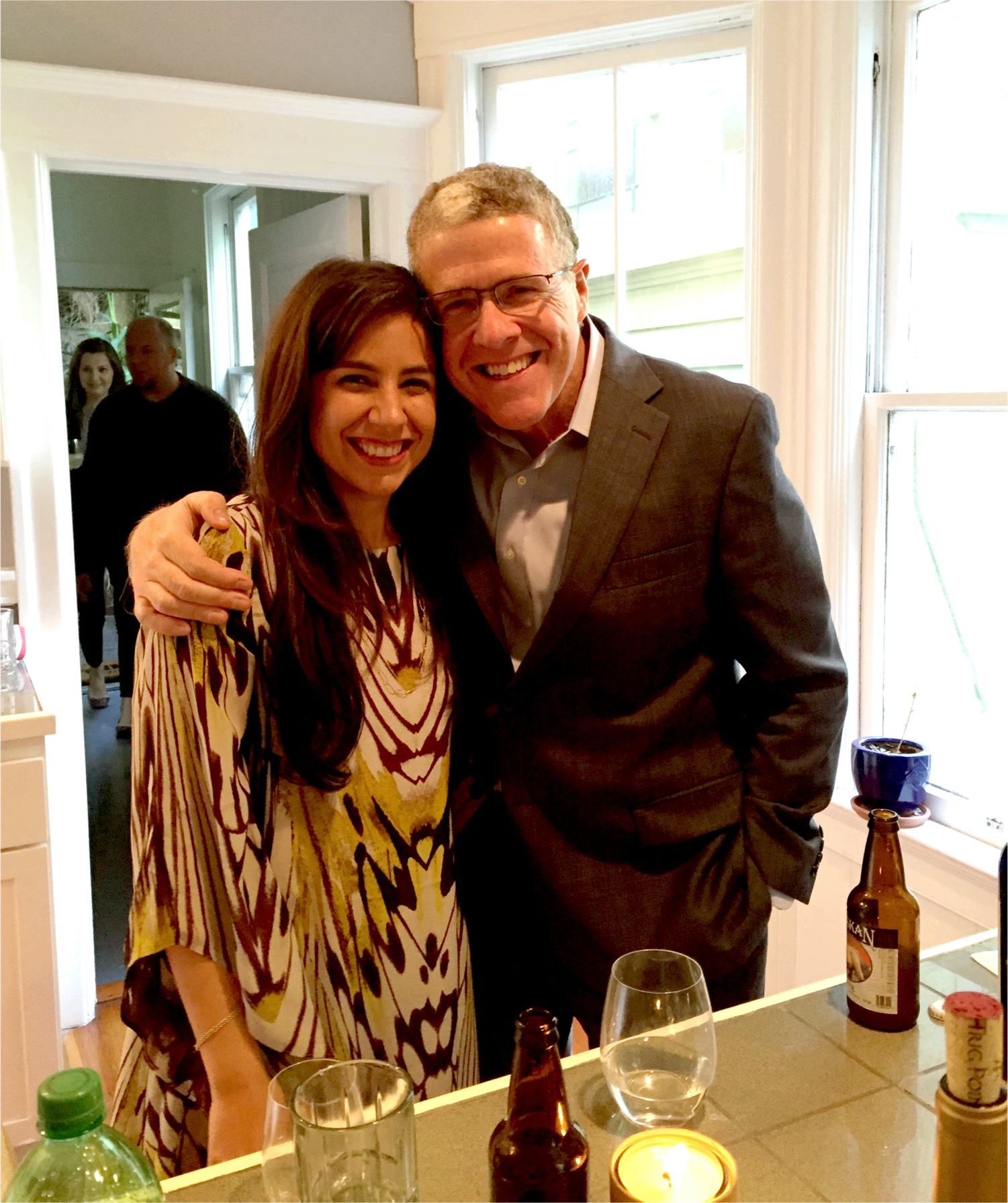 Laura King with her dad, Peter King. Laura recently married her partner and Peter was there with love and support.