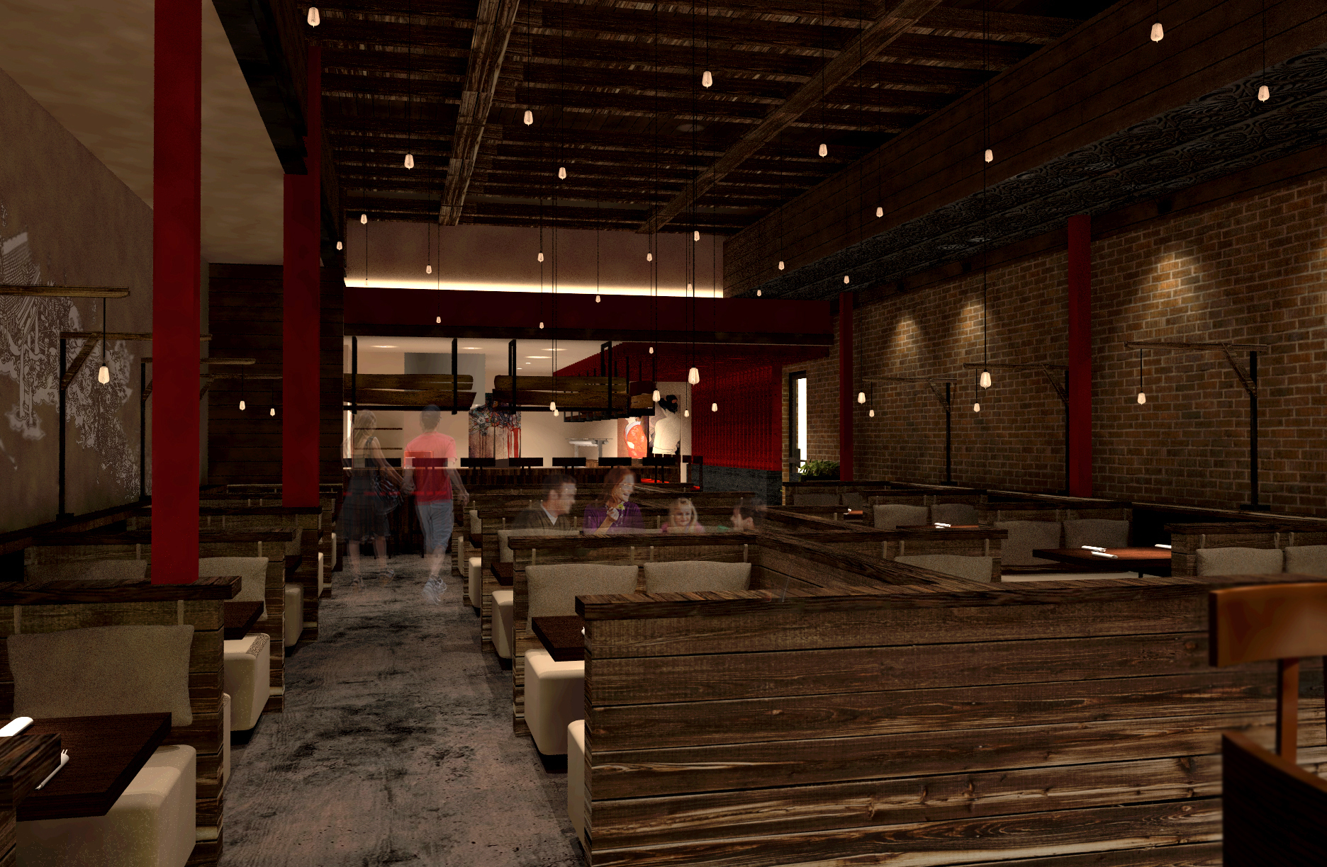 A rendering of the Wabi House interior.
