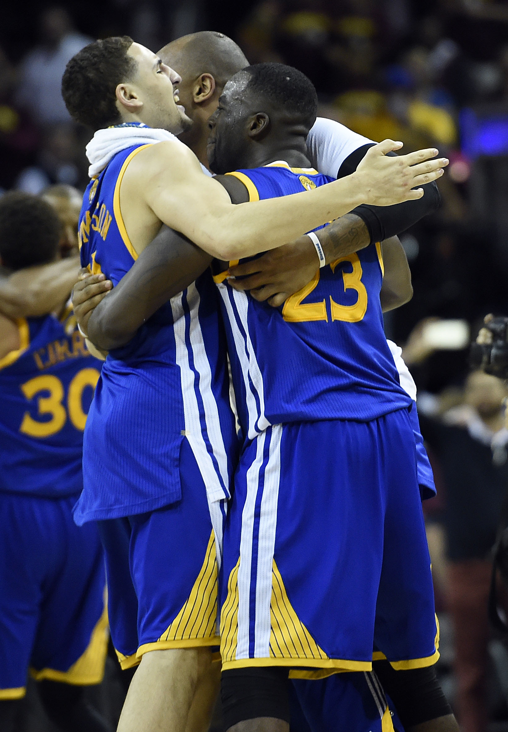 The Warriors celebrate their first World Championship in 40 years.