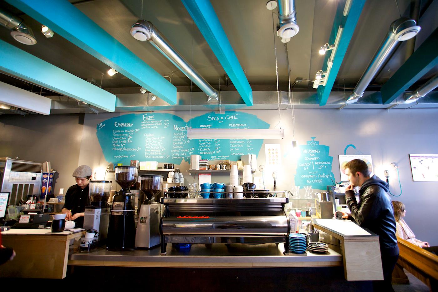 Inside Café Saint-Henri