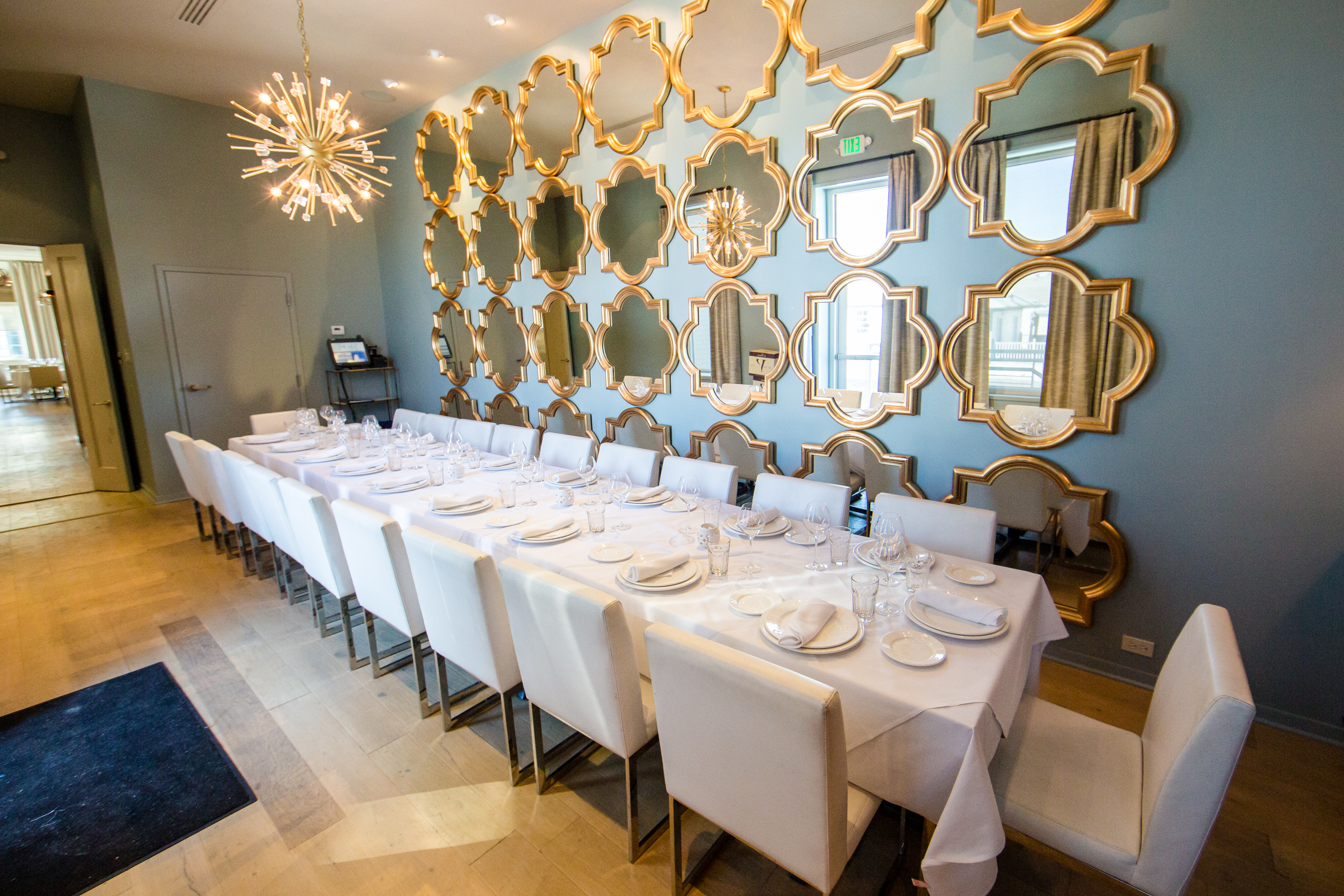 The private dining room at Shaya, home of the Lebanese lamb and beef tartare variation, kibbeh nayah.
