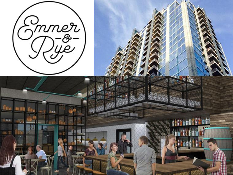 Rendering of Emmer & Rye's space in SkyHouse