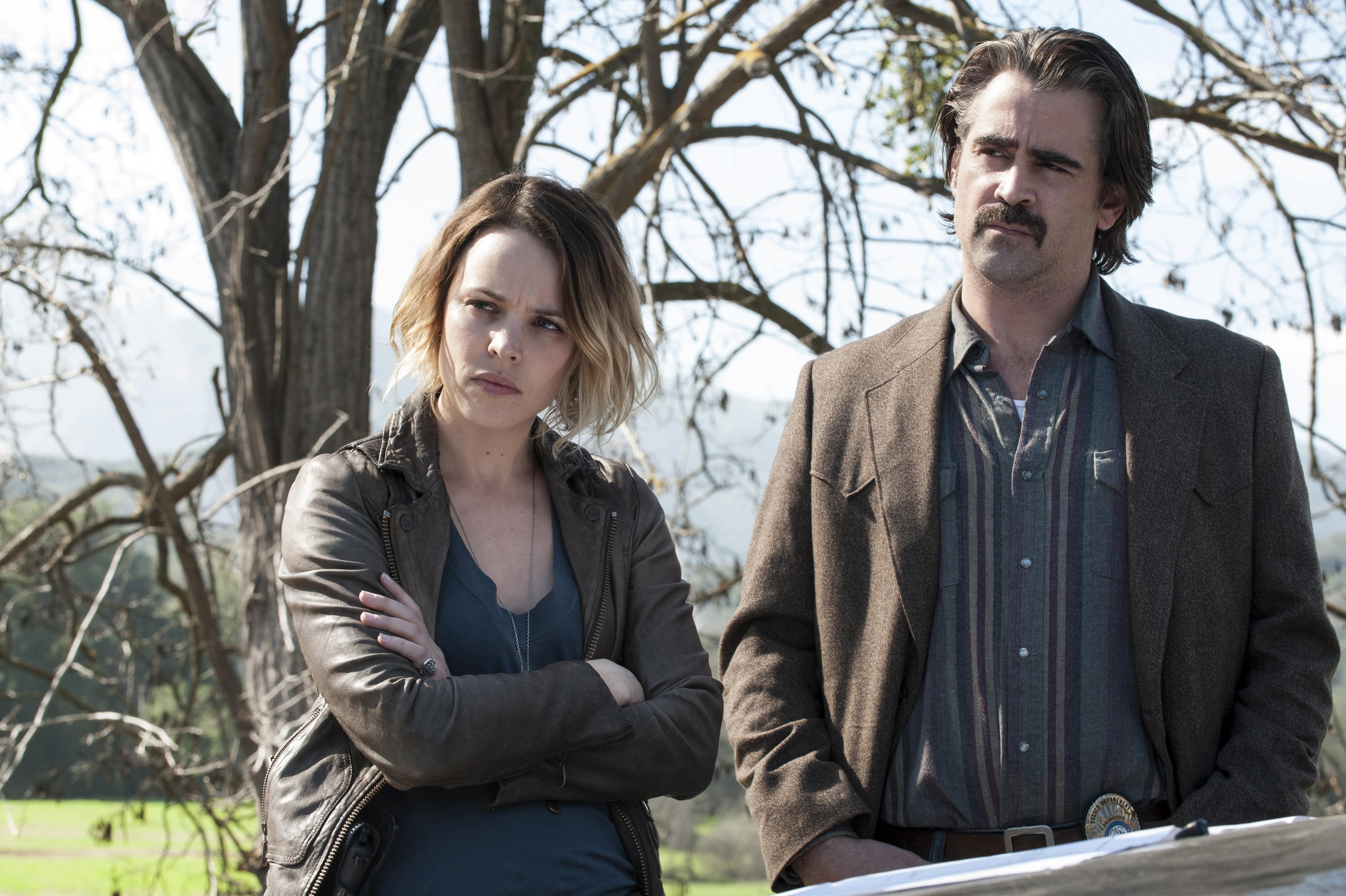 Rachel McAdams and Colin Farrell take the wheel for True Detective, season two.