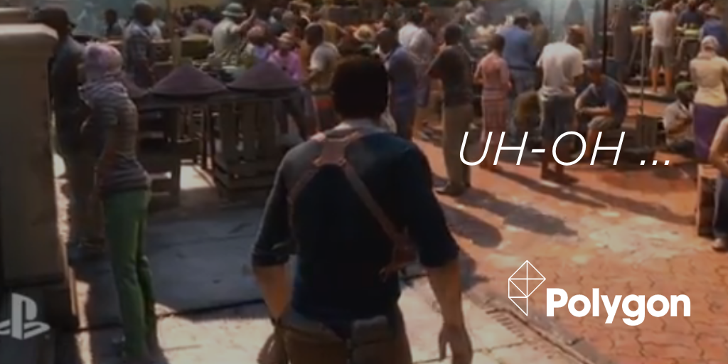 Why Uncharted 4's action-packed demo began with 30 seconds of standing around